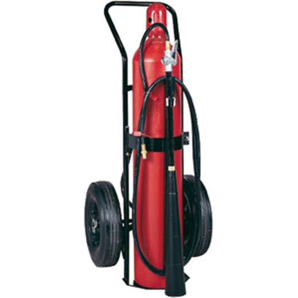 Badger™ 50 lb CO2 Wheeled Self-Expelling Fire Extinguisher
