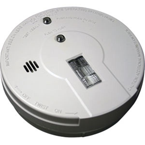 Battery Powered Ionization Smoke Alarm w/ Exit Light
