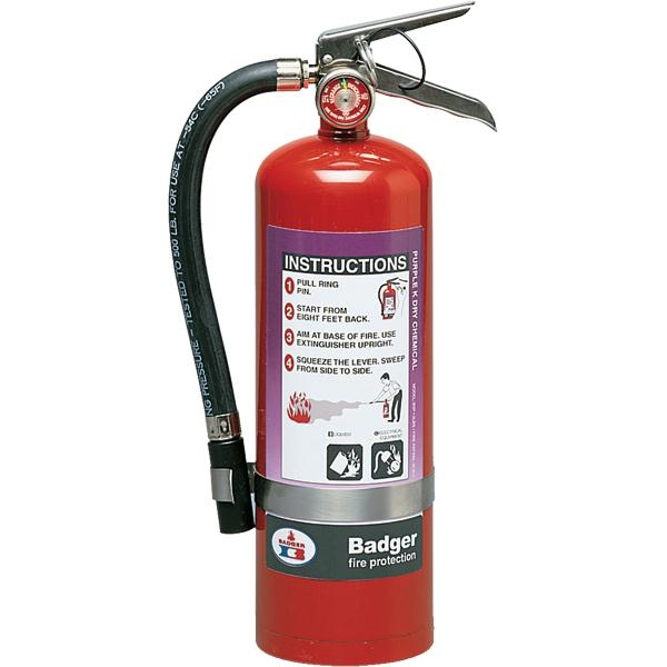 Badger™ Extra 5 lb Purple K Fire Extinguisher w/ Wall Hook