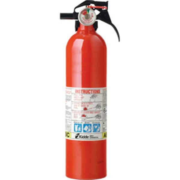 Kidde Automotive 2 1/2 lb ABC Fire Extinguisher w/ Nylon Strap Bracket (Disposable)