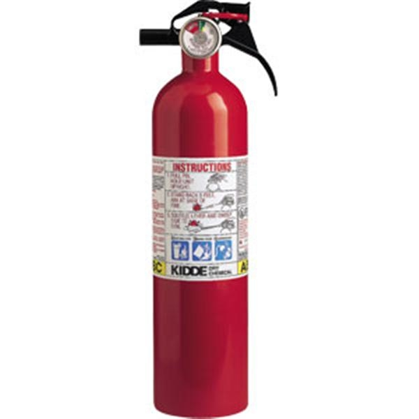 Kidde 2 1/2 lb ABC Fire Extinguisher w/ Nylon Strap Bracket (Disposable)