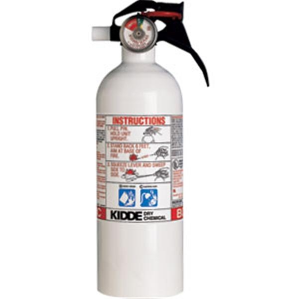 Kidde Mariner 2 lb BC Fire Extinguisher w/ Nylon Strap Bracket (Disposable)