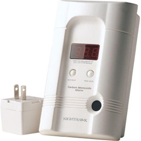 Premium Plus CO Alarm w/ 3-Way Plug & Rechargeable Lithium Battery