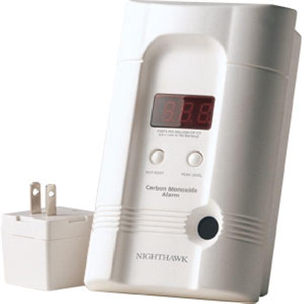 Premium Plus CO Alarm w/ 3-Way Plug & Rechargeable Lithium Battery