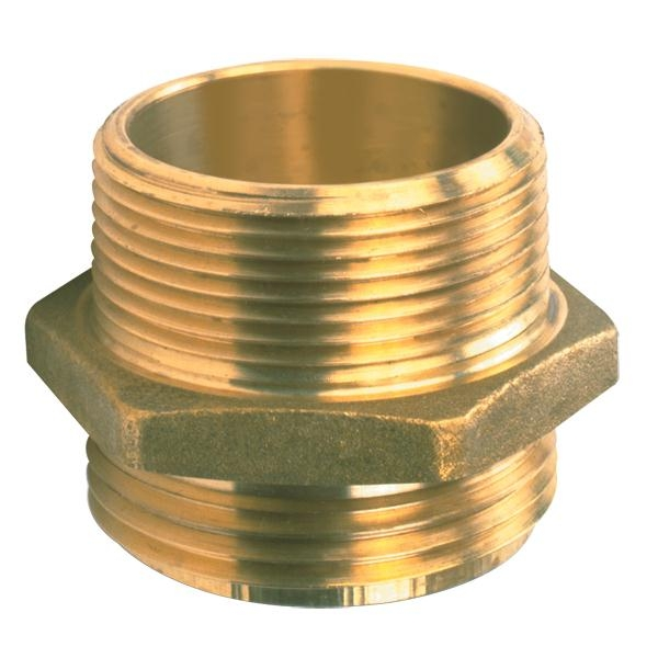 Male x Male Brass Hexagon Nipples