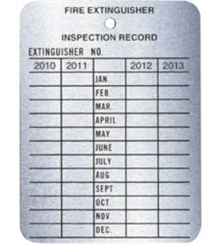 4-Year Metal Inspection Tag