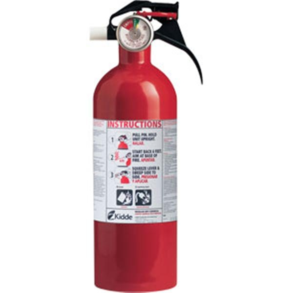 Kidde 2 lb BC Fire Extinguisher w/ Nylon Strap Bracket (Disposable)