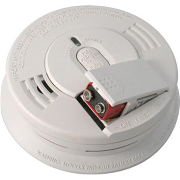 Front-Loading AC/DC Ionization Smoke Alarm (Interconnectable)