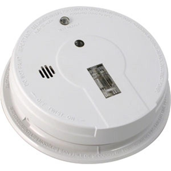 AC/DC Ionization Smoke Alarm w/ Exit Light (Interconnectable)