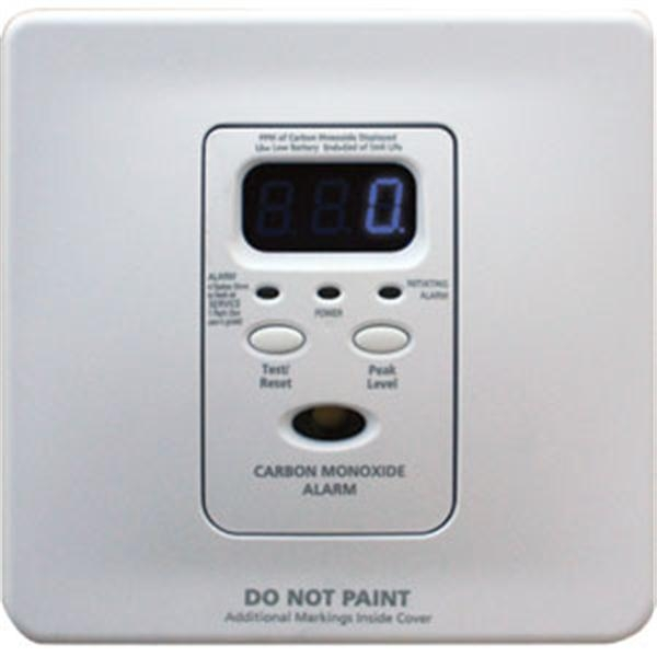 Wire-In CO Alarm w/ Rechargeable Battery Backup